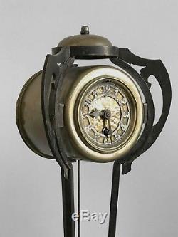 1900 1 Pendule & 2 Bougeoirs Art Nouveau Wiener Werkstatte Deco