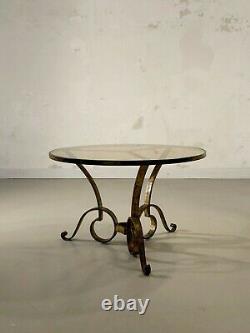 1940 RAYMOND SUBES GUERIDON TABLE BASSE ART-DECO MODERNISTE SHABBY-CHIC Adnet