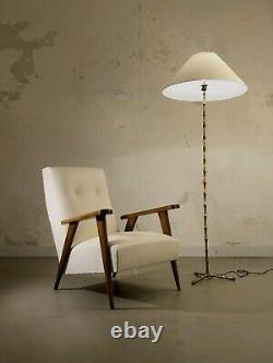 1950 MAISON BAGUES LAMPADAIRE BAMBOU ART-DECO NEO-CLASSIQUE SHABBY-CHIC Adnet