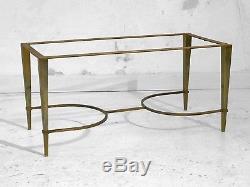 1960 RAMSEY TABLE BASSE ART-DECO MODERNISTE SHABBY-CHIC Bronze Marbre Adnet