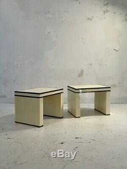 1970 JANSEN CHEVETS ART-DECO MODERNISTE SHABBY-CHIC JC Mahey Pergay Dupré-Lafon