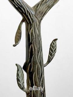 1970 Lampe Art-deco Moderniste Bauhaus Shabby-chic Bronze