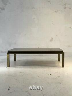 1970 Maison Jansen Table Basse Art-deco Bronze Neo-classique Shabby-chic