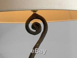 1990 LAMPE SCULPTURE BRONZE ART-DECO MODERNISTE BRUTALIST SHABBY CHIC Garouste