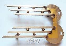 2 poignées ART DECO portes meubles bronze doré et bronze chromé FRENCH DECO