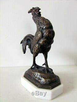 A. BARYE (1839-1882) authentique bronze du XIX eme siècle coq art deco