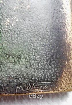 ANCIEN COFFRET LIVRE EN BRONZE signé MAX LE VERRIER
