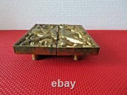 ANCIENNES poignées de porte en bronze doré. Art déco MAURICE JALLOT