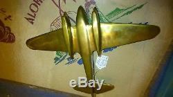 ART DECO 40's 50' AVION EN BRONZE P. PAPIER 27,5 CM X 20,5 CM X 6 CM 1,100 KG
