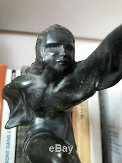 ART DECO. Bronze ou fonte d'art/marbre MASCOTTE @ DANSEUSE signée Max LE VERRIER