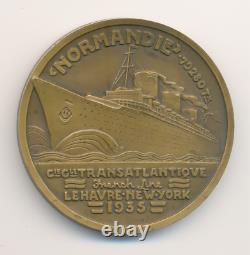 ART DECO Le Paquebot NORMANDIE Jean Vernon 1935 Cie Générale Transatlantique