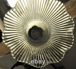 Ancien Lustre Bronze Doré 4 Feux Avec Monte-baisse Art Déco 1925 Dn 2057