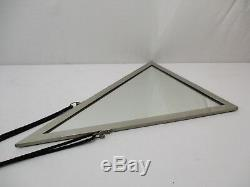 Ancien Miroir Glace Art Deco Design 1930 Modernisme Bronze Chrome Glass Mirror