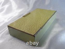 Ancien Poudrier Minaudière Sac A Main Laque Art Deco Powder Box