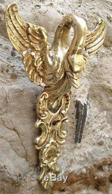 Ancienne Corniche Architecturale Col de Cygne en Bronze de style Empire