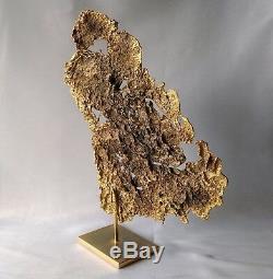 Ancienne Sculpture De Forme Libre En Bronze Doré Philippe Cheverny