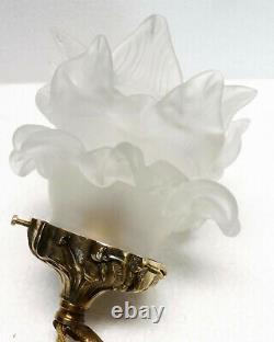 Ancienne suspension lustre bronze angelot putto milieu XXème siècle