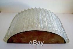 Applique 1950 moderniste bronze cristal art déco jacque quinet biny fontana arte