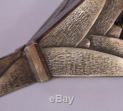 Applique art deco bronze et albâtre signée A. Cheuret