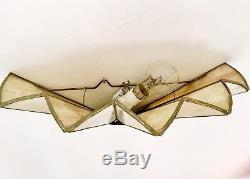 Applique murale pâte de verre et bronze Art Déco style Tiffany anciennes