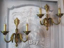 Appliques (la paire) en bronze travail italien 70's