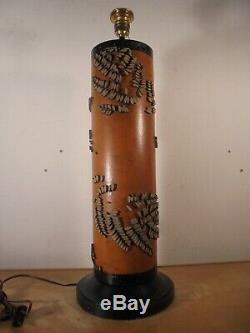 Art Déco 30 Art populaire Important Pied de lampe Rouleau Imprimerie DLG Zuber