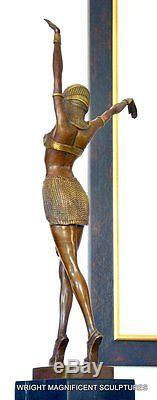 Art Deco Bronzeskulptur signiert Chiparus Bronze Figur Bronze Skulptur Bronze