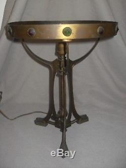 Art Déco Pied lampe en bronze