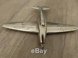 Avion bronze chromé art deco type Caudron années 30