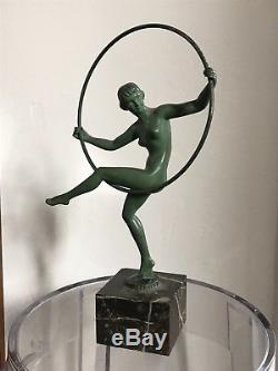 BRIAND BOURAINE MAX LE VERRIER STATUE SCULPTURE ART DECO bronze 1930 1940