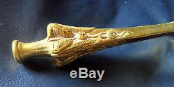 Beau pied de lampe Art Nouveau aux marrons en bronze Leleu Cayette Daum