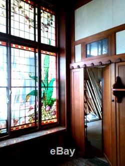 Boiserie pièce complète époque Art Déco acajou 10 mètres porte placards bronze