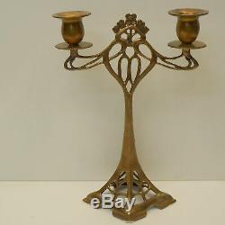Bougeoir Style Art Deco Style Art Nouveau Bronze massif