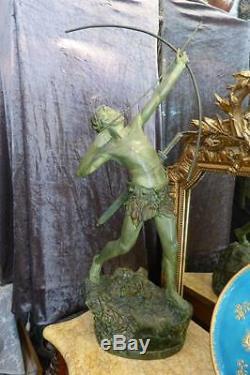 Bronze Art Déco Emile Gregoire Tireur à l'Arc