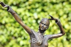 Bronze D. H. (Demetre Haralamb) Chiparus numéroté en gesigneerd Art Deco bronz