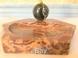 Bronze Le Faguays danseuse boule onyx art déco