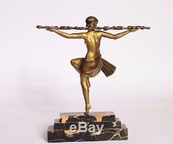 Bronze art deco Le Faguays danseuse 1930