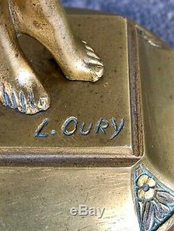 Bronze féminin Premier Frisson Louis OURY (1867-1940)