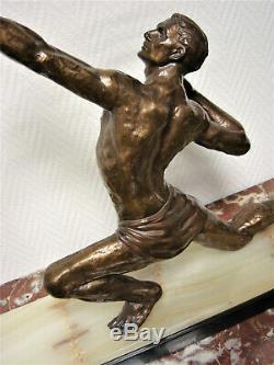 Bronze ou régule d'époque ART DECO Jean De Roncourt ou Carlier, Bouraine, Darny