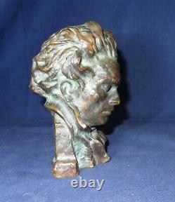 Buste de Beethoven en bronze Pierre LE FAGUAYS SCULPTURE Max Le Verrier