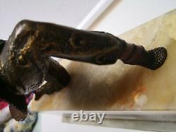 CHIPARUS statue plate chryselephantine bronze Ivoire art déco danseuse kamorna