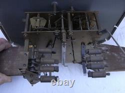 Carillon Veritable Westminster 8 Marteaux 8 Tiges Pendule Horloge Clock Art Deco