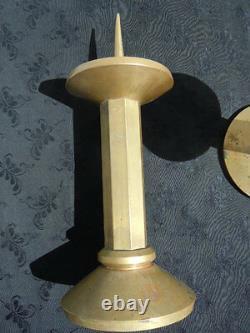 Chandeliers bougeoir pique cierge bronze Art Deco Candlestick