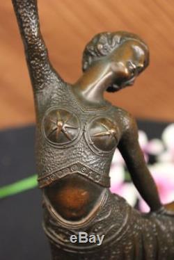 Chiparus Danseuse Élégant Bronze Sculpture Signée Arabesque Art Statue Deco T