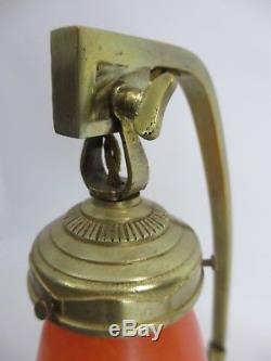 DAUM NANCY LAMPE BRONZE DORÉ ART DÉCO TULIPE PTE DE VERRE NUAGE H 42 cm