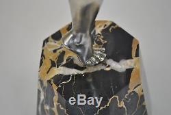 Danseuse En Bronze Argenté Ed Reveyrolis, Art Déco, XXème Siècle