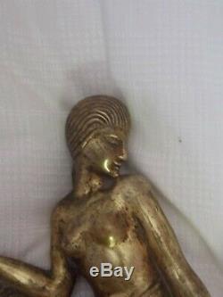 Femme bronze art deco ancien