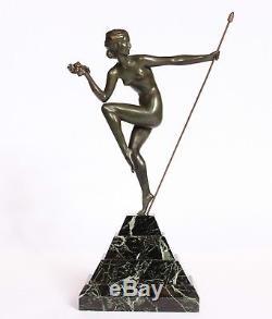 Femme danseuse en bronze art deco