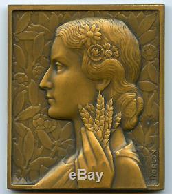 France Médaille par Morlon Art déco Offert par Le Progrès du Béarn