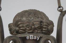 GENET ET MICHON monture de lustre art deco en bronze 1925 1930